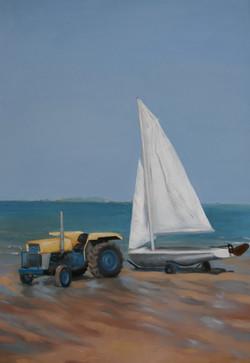 Le tracteur du Yacht Club de St Lu