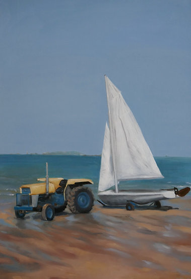 Tractor of Yacht Club Saint-Lunaire