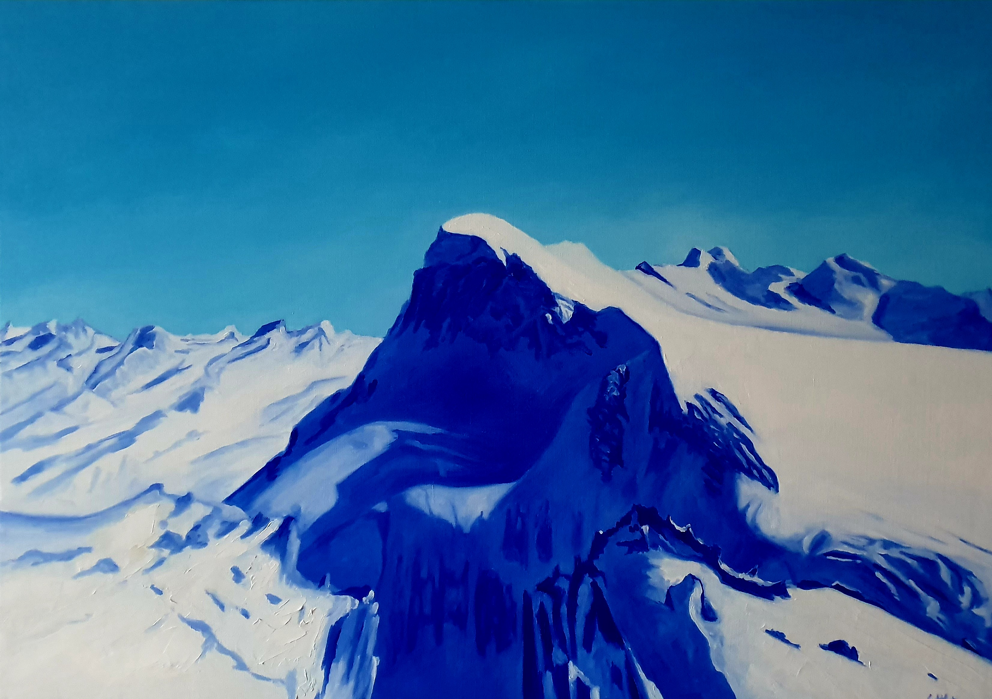 Glacier Paradise en bleu