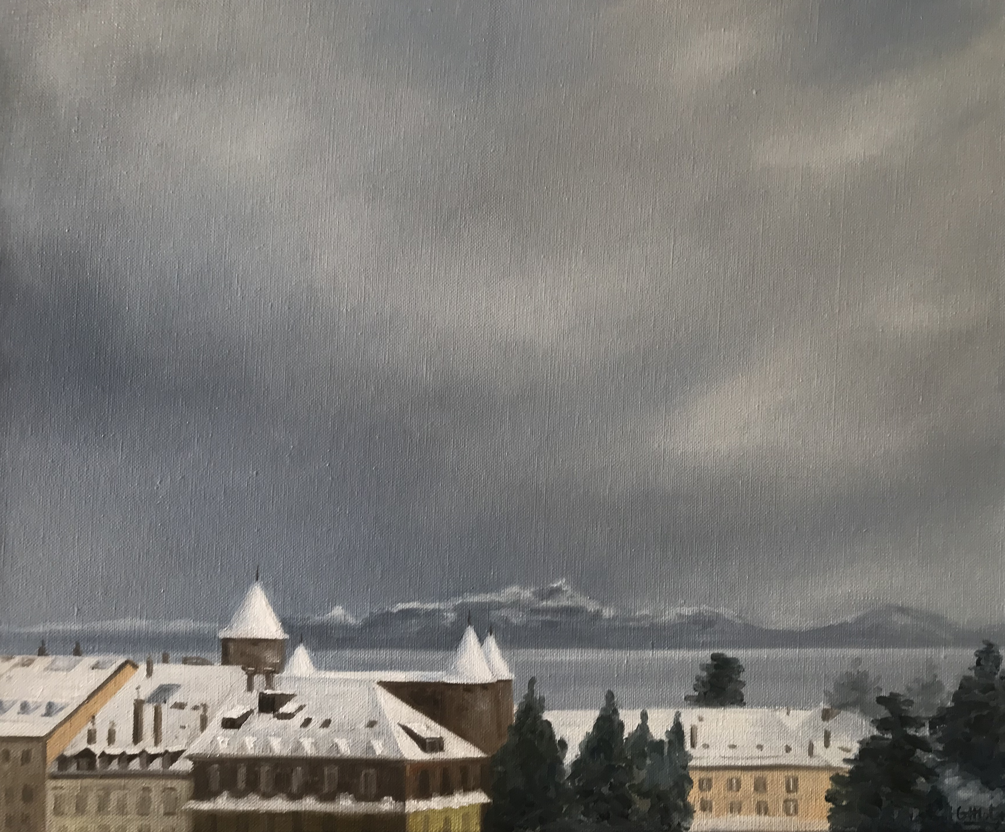 Morges under the snow