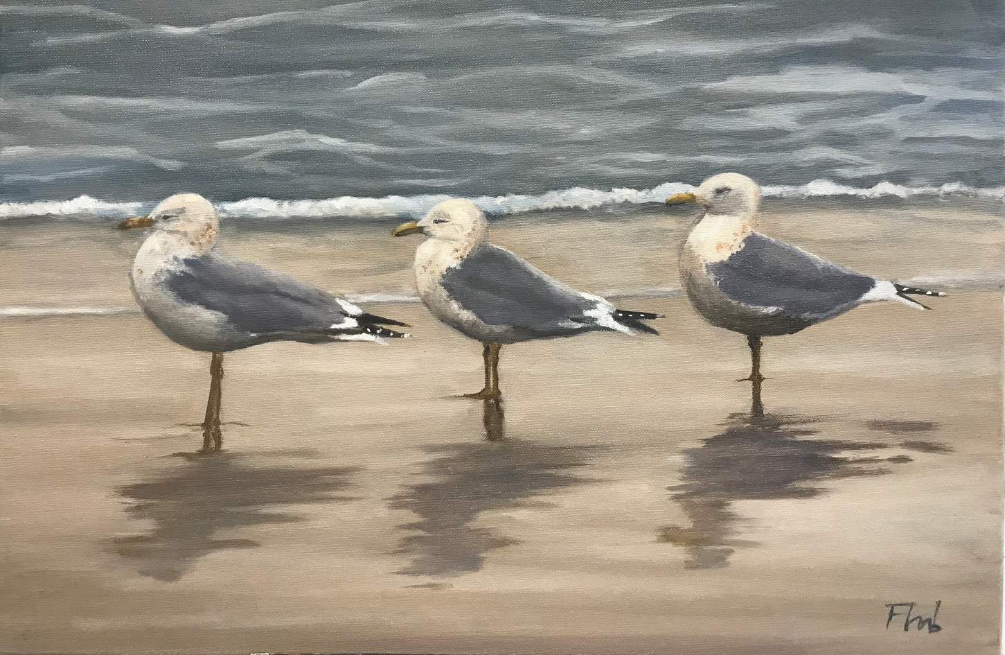 painting seagulls painting course gene