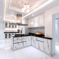 Luxuary White Kitchen