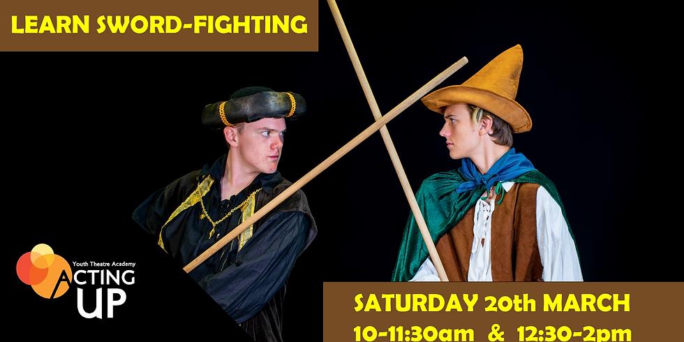 Sword-Fighting Workshop - MARCH 20th 10:00 - 11:30am.