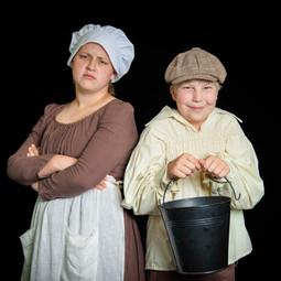 A boy and a bucket