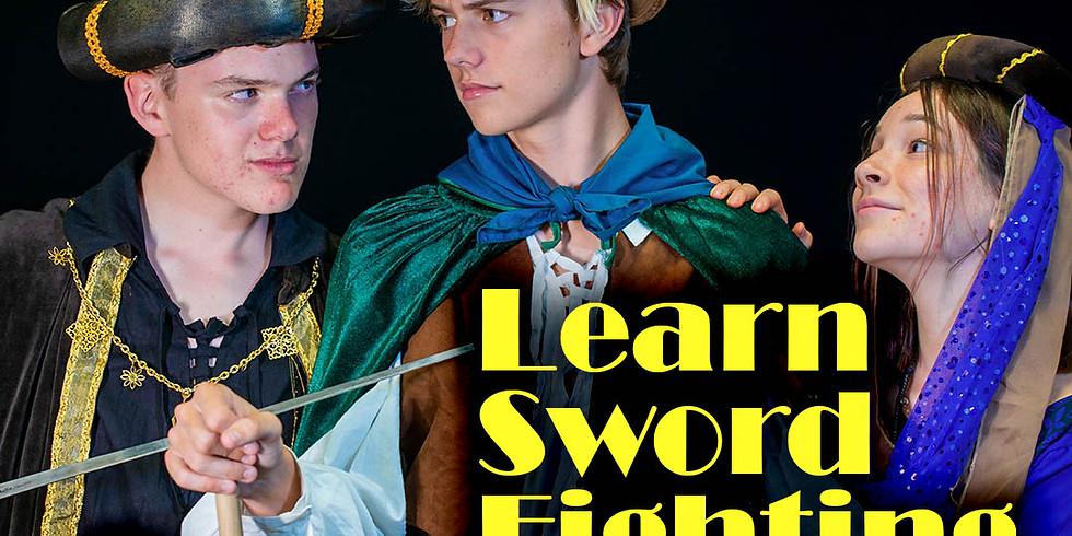 Sword-Fighting Workshop - April 17th 10:00 - 11:30am.