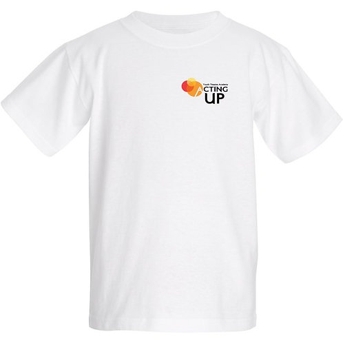 Acting Up! Youth Theatre Academy Cotton T's (Kids) Place size from chart in note