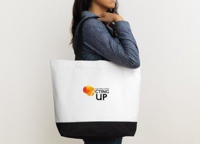 Two-Tone Deluxe Acting Up! Classic Cotton Tote Bags
