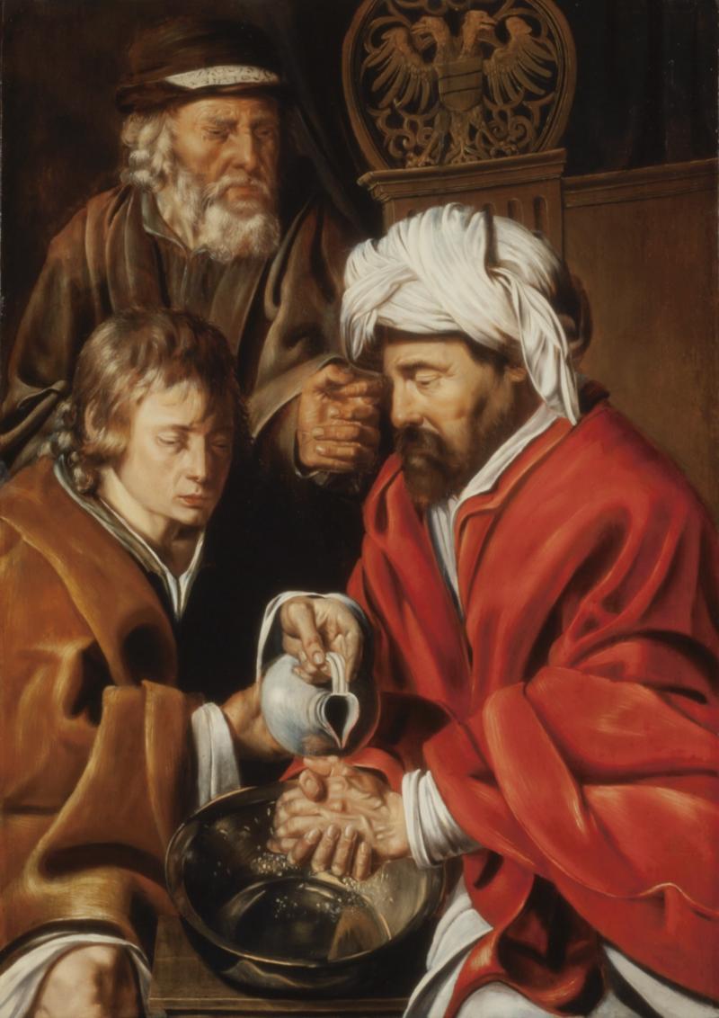 Ponzio Pilato che si lava le mani