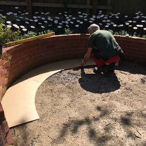 Measuring for the circular bench