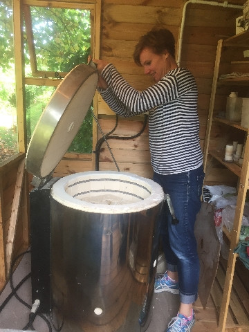 Loading the kiln