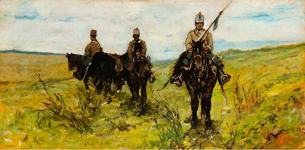 FATTORI, GIOVANNI - Lancieri - cm 20,5 x