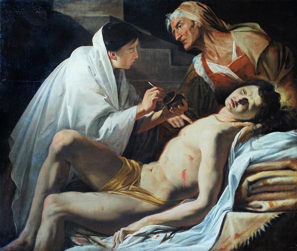 BLANCHARD, Jacques - San Sebastiano curato dalle pie donne