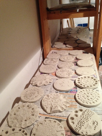 Drying the discs before firing