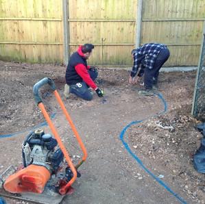 Preparing to excavate