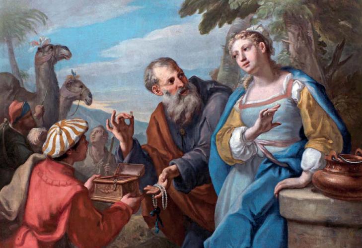 BRUSAFERRO, Girolamo - Rebecca ed Eliezer al pozzo