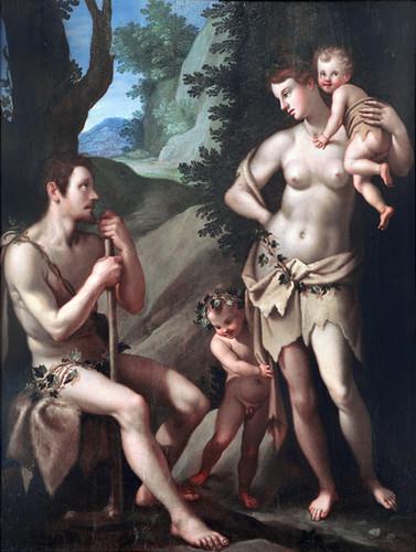 CHIMENTI,  Iacopo - La famiglia di Adamo