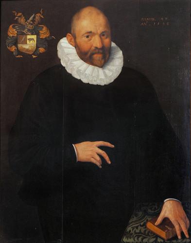 VAN SWANENBURG, Isaac Claesz - Ritratto di van Verbeek (1596)