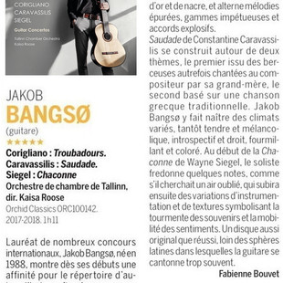 5-star review in Classica magazine (April 2021 issue)