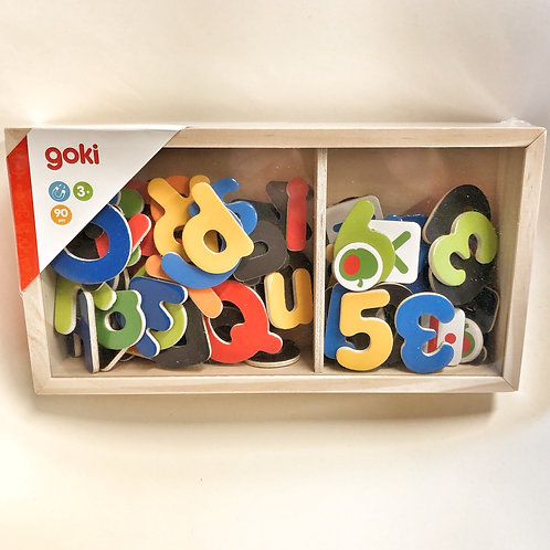 Goki Magnetbuchstaben und Zahlen aus Holz