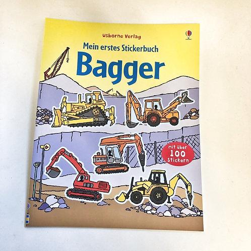 Usborne Mein erstes Stickerbuch Bagger
