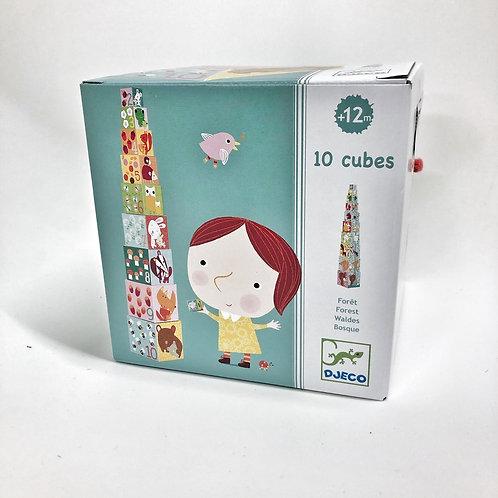 Djeco 10 Cubes Wald