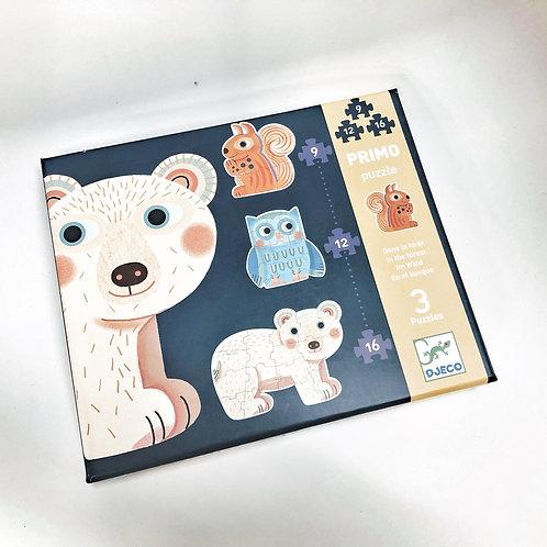 Djeco Puzzle Primo Tiere