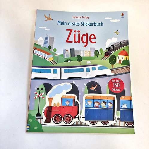 Usborne Mein erstes Stickerbuch Züge