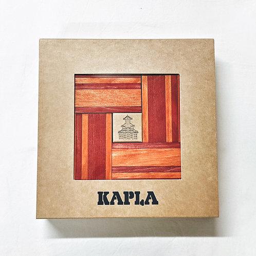 Kapla 40 Steine mit Buch - Rot