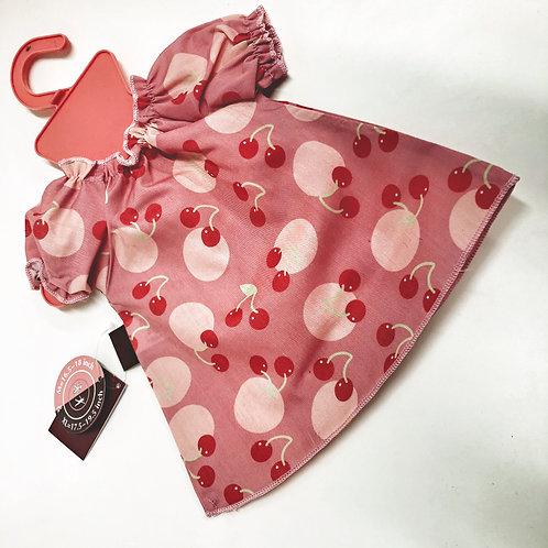 Götz Puppen Kleid mit Kirschen M bis XL