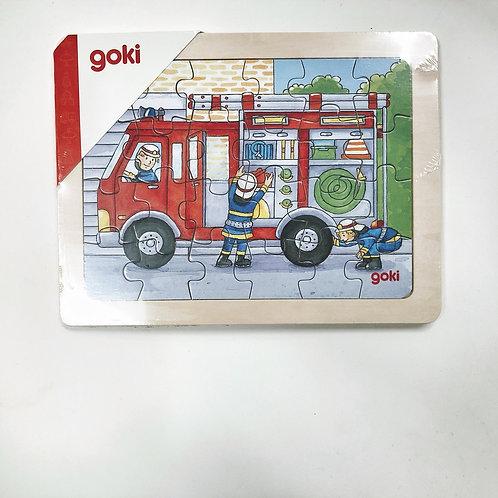 Goki Einlegepuzzle Feuerwehr