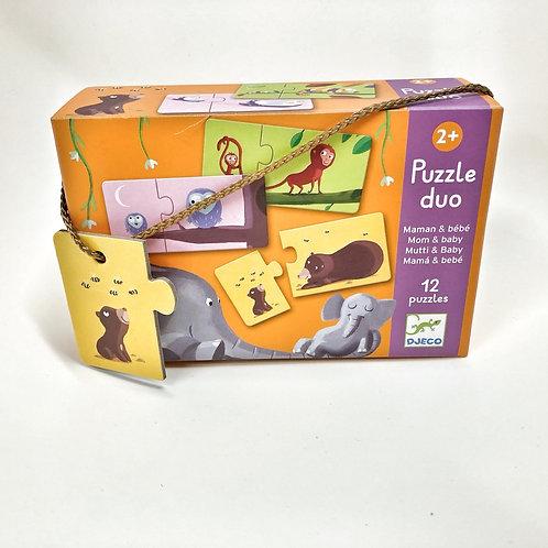Djeco Duo Puzzle Mama und Baby