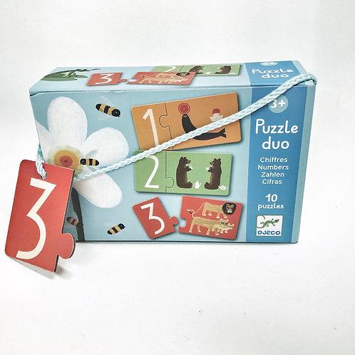 Djeco Puzzle Duo Zahlen