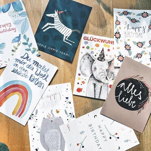 Postkarten zum Geburtstag 1