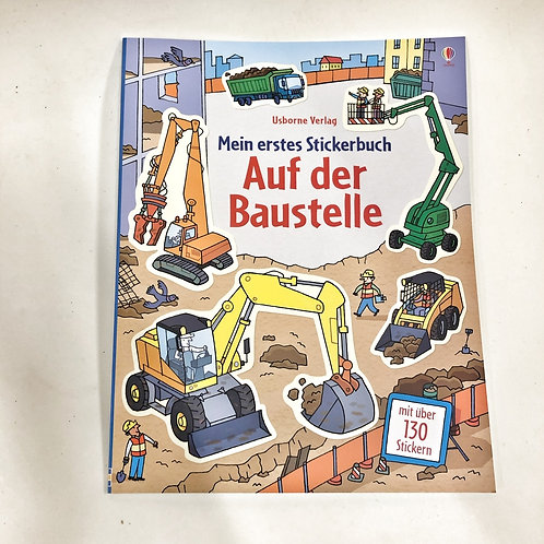 Usborne Stickerbuch Auf der Baustelle