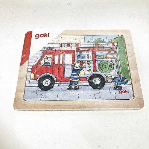 Goki Kleines Puzzle Feuerwehr