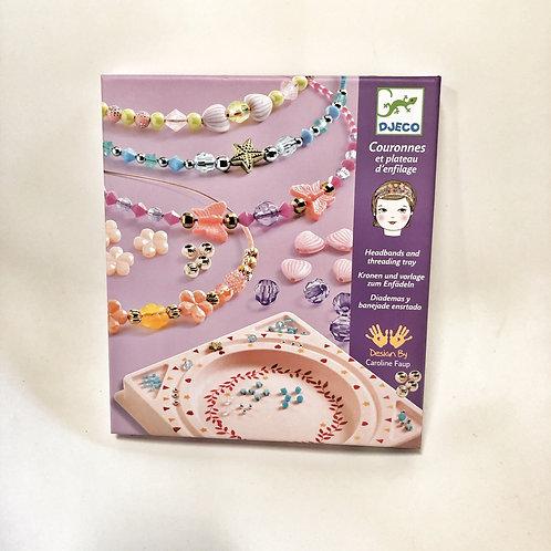 Djeco Haarreifen basteln mit Juwelen und Perlen