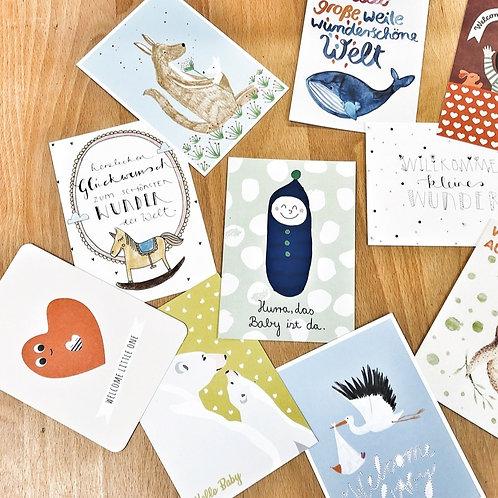 Postkarten zur Geburt 1