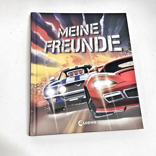 Meine Freundebuch Rennwagen