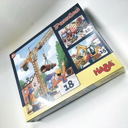 Haba Puzzles Baustelle
