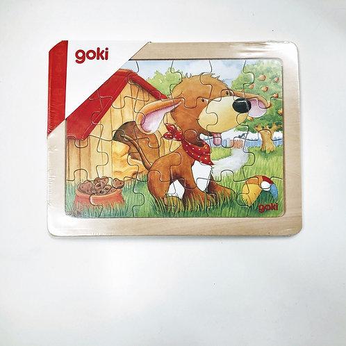Goki Einlegepuzzle Hund