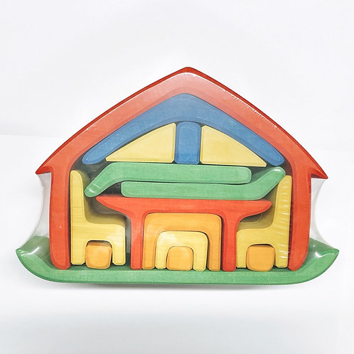 Möbelhaus rotblau