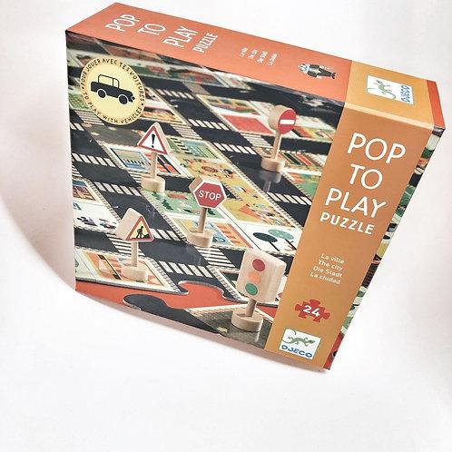 Djeco Pop to Play Puzzle Strassen