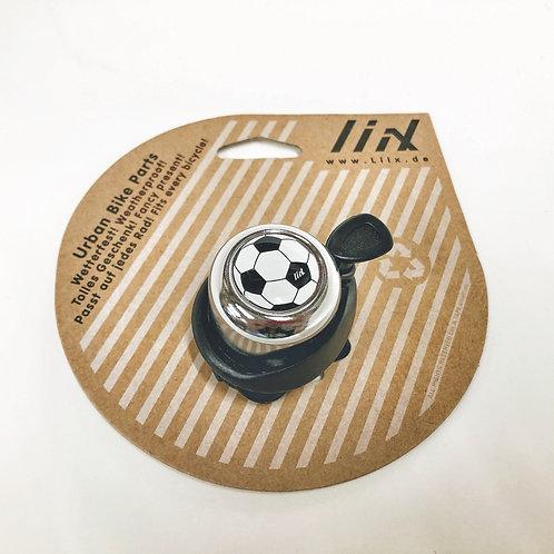 Liix Fahrradklingel Fussball silber