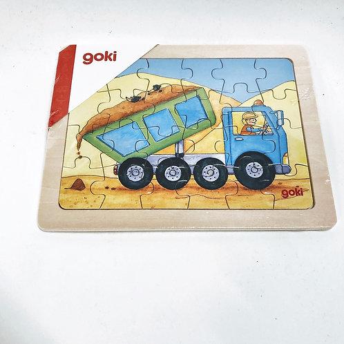 Goki Kleines Puzzle Baustelle