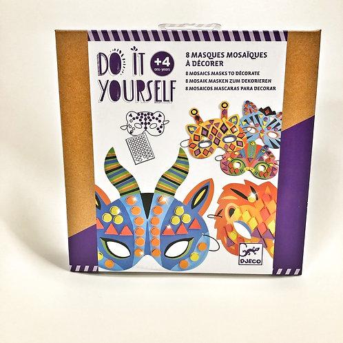 Djeco DIY Masken mit Mosaik verzieren