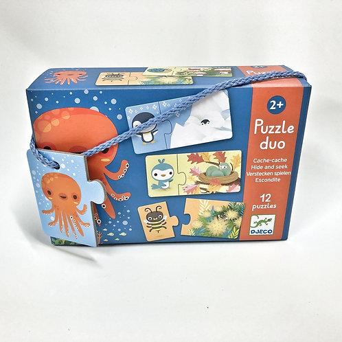 Djeco Duo Puzzle Verstecken spielen
