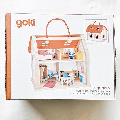 Goki Koffer Puppenhaus mit Zubehör