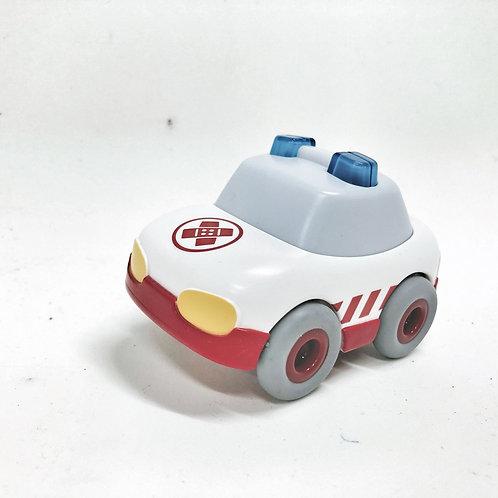 Haba Auto Kullerbü Krankenwagen mit Schwungmotor