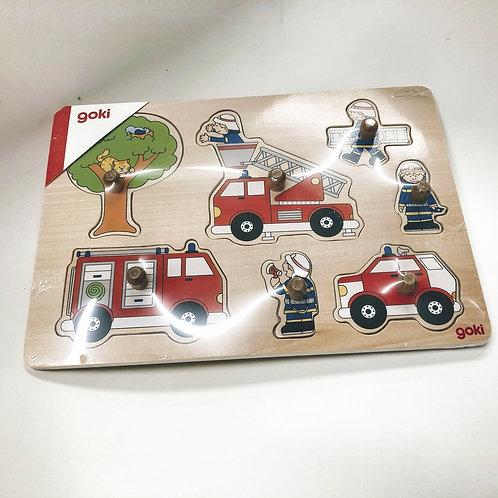 Goki Steckpuzzle Feuerwehr 2