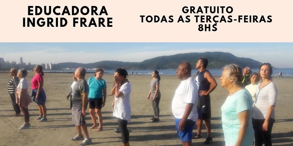 SANTOS - SP: Exercícios Visuais na Praia